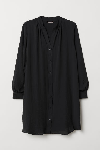 H&M+ V-neck tunic - Black - Ladies | H&M CN