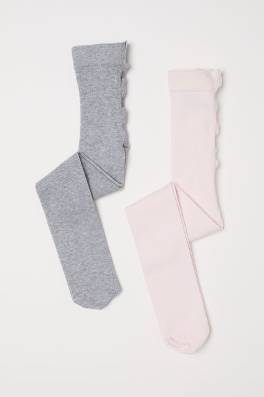 2-pack tights - Pink - Kids | H&M CN