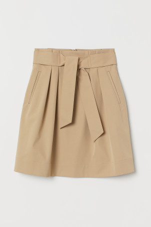 Skirt with Tie Belt