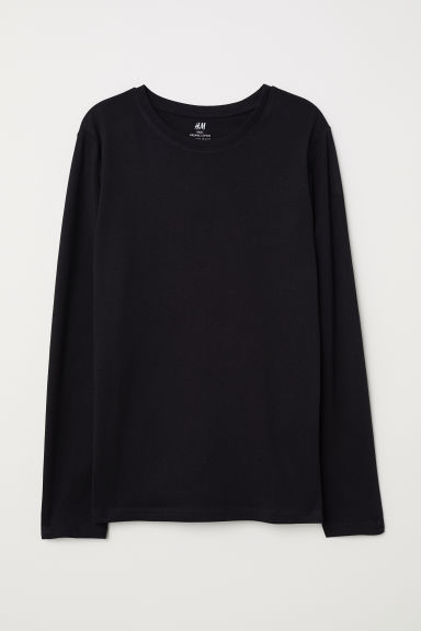Top in jersey - Nero - BAMBINO | H&M IT