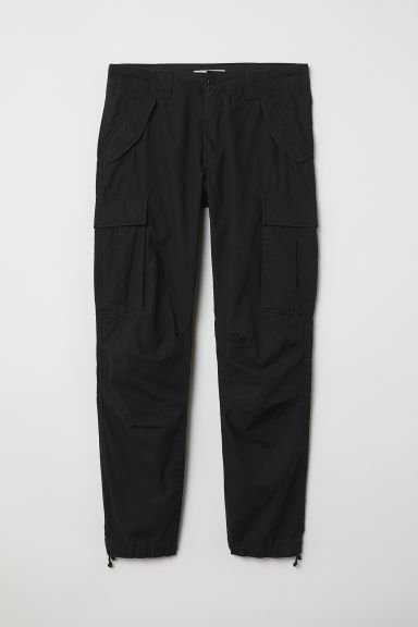 Cargo trousers - Black - Men | H&M GB