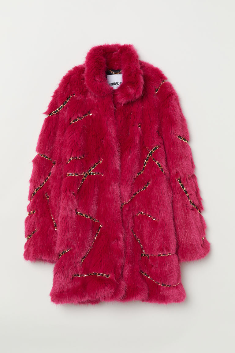 Faux fur coat - Cerise - Ladies | H&M CN