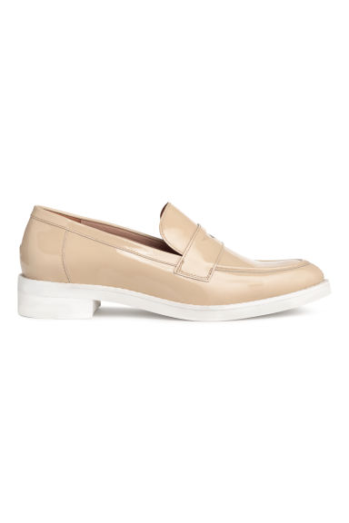 Leather loafers - Beige -  | H&M CN
