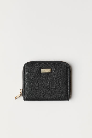 Wallet - Black/Grained - Ladies | H&M CN