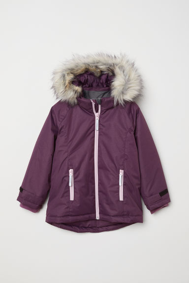 Padded outdoor jacket - Purple - Kids | H&M CN