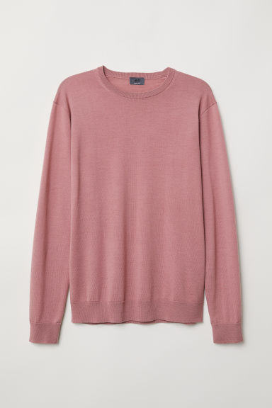 Merino wool jumper - Dusky pink - Men | H&M CN