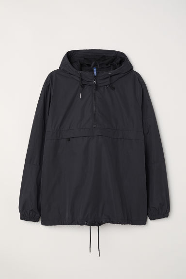 Anorak with a hood - Black - Men | H&M CN