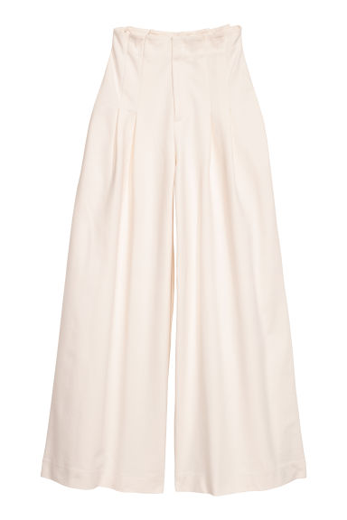 Wide trousers - Natural white - Ladies | H&M