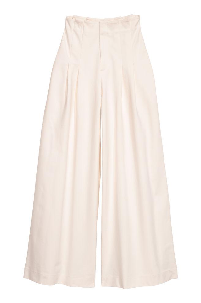 Pantalón amplio - Blanco natural - MUJER   H&M ES 2
