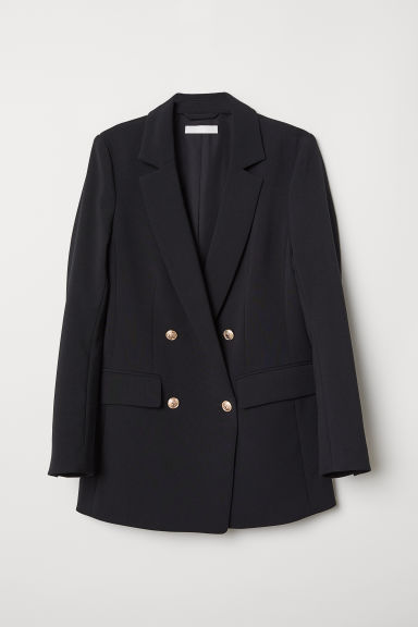 Double-breasted blazer - Zwart - DAMES | H&M BE