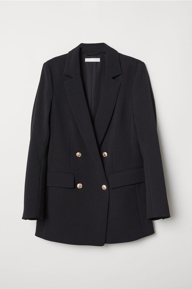 e22c64c4 Dobbelspent jakke - Sort - DAME | H&M ...