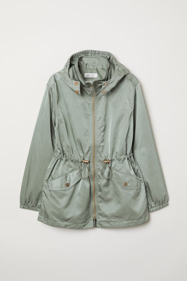 Parka with a hood - Dusky green - Kids | H&M