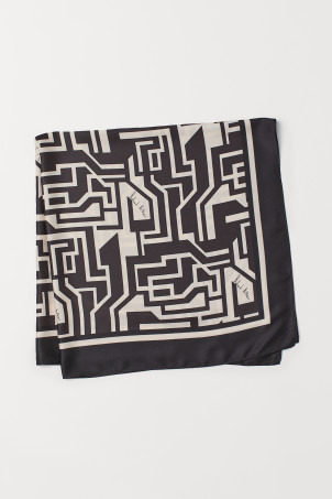 Patterned satin scarfModal