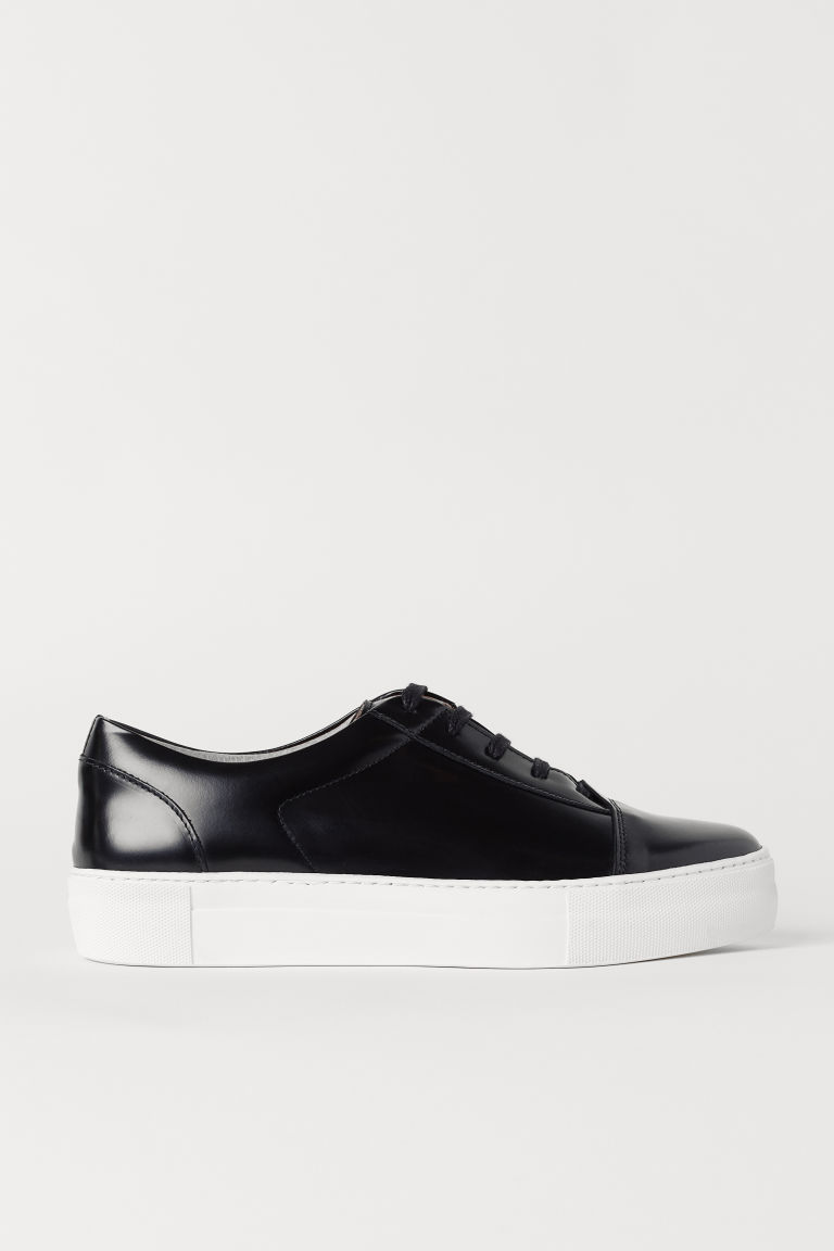 Sneakers - Black/leather - Men | H&M US