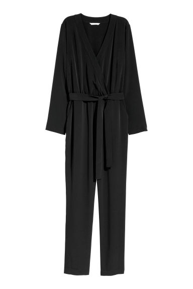 Jumpsuit - Black/Patterned -  | H&M US