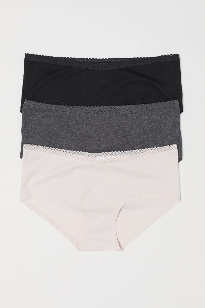 798c704a34b6 MAMA 3-pack hipster briefs - Pink/Black - Ladies   H&M ...