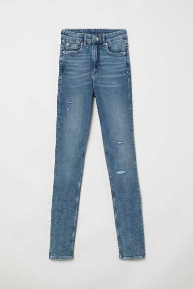 Slim High Jeans - 牛仔蓝 - Ladies | H&M CN