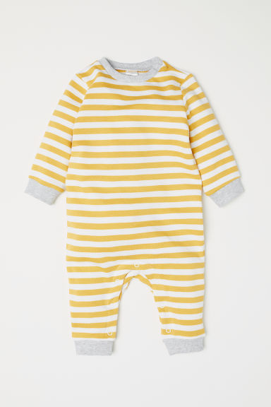 All-in-one suit - Yellow/White striped - Kids | H&M