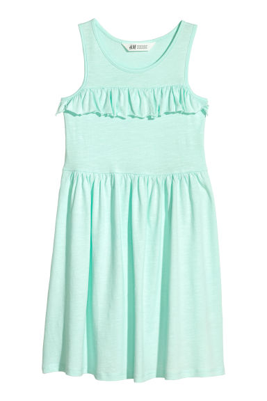 Cotton jersey dress - Light turquoise -  | H&M