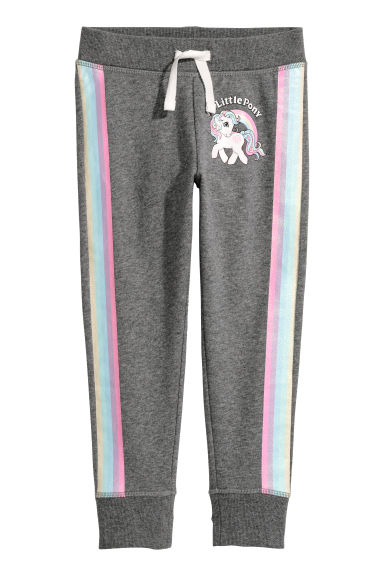 Printed joggers - Dark grey/My Little Pony - Kids | H&M CN