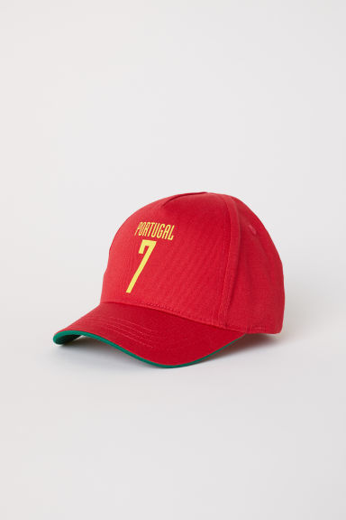 Cotton twill cap - Red/Portugal - Kids | H&M CN