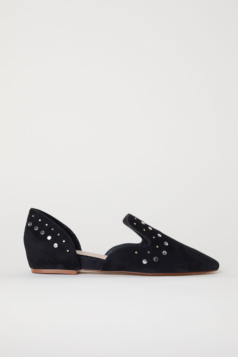 Suede loafers - Black - Ladies | H&M