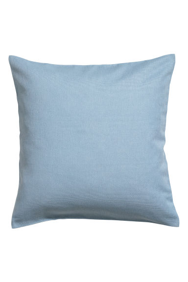 Cotton canvas cushion cover - Light blue - Home All | H&M CN