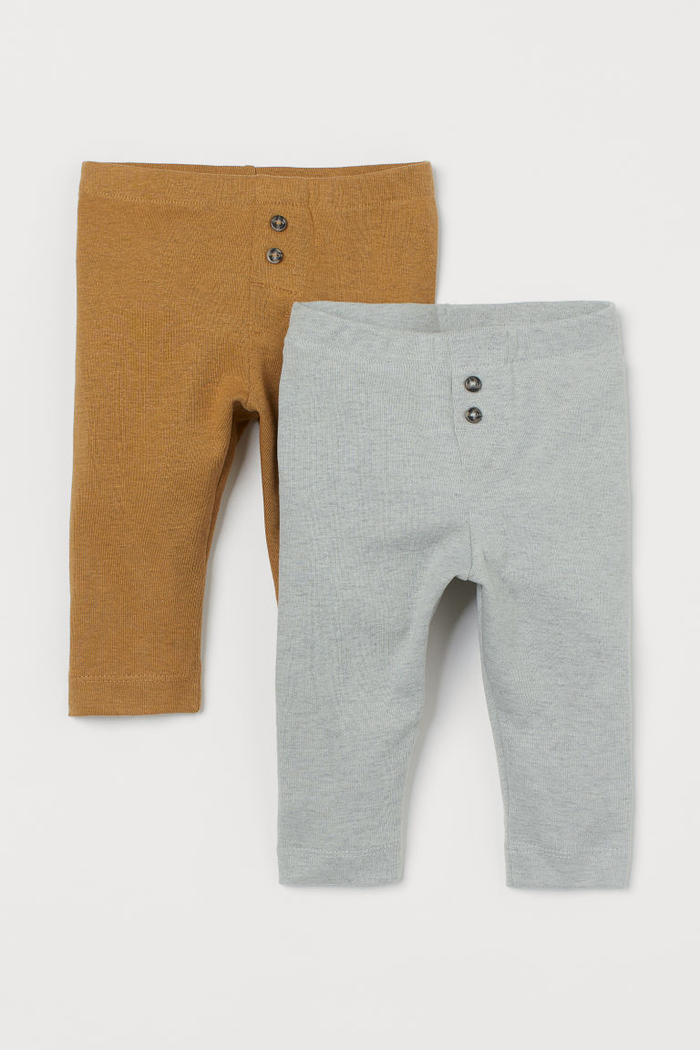 2er-Pack Leggings - Helltürkismeliert - KINDER | H&M CH