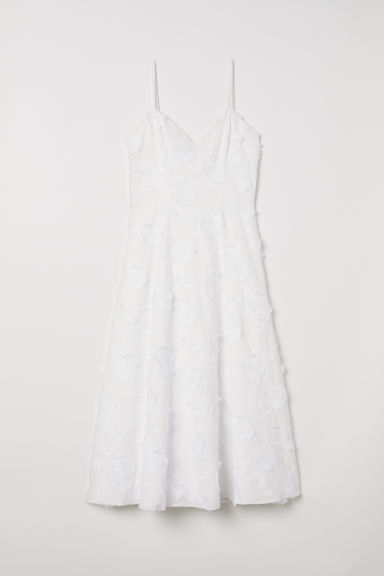 Dress with embroidery - White - Ladies | H&M