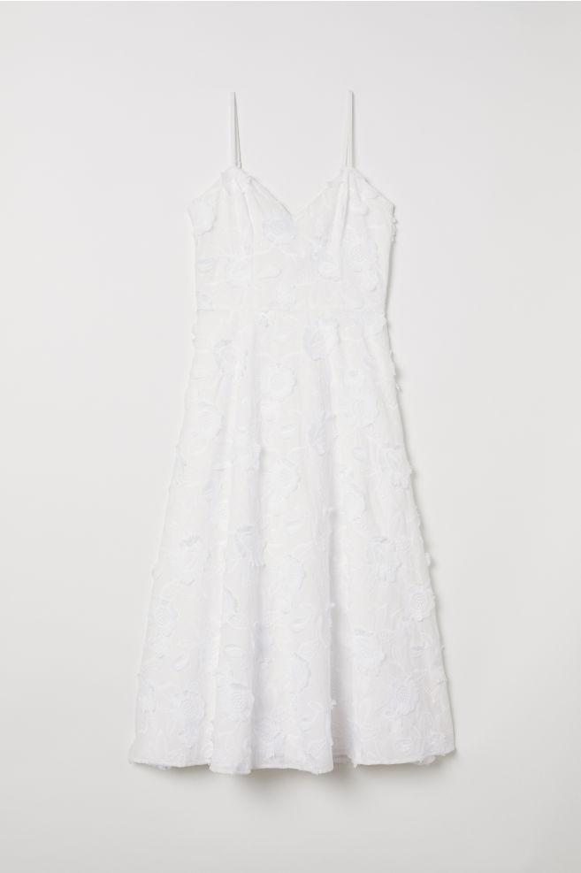 faba4c32bf99 Vestido com bordados - Branco - SENHORA   H&M ...
