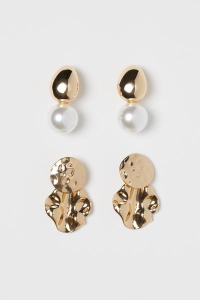 H&M - 2 pairs earrings - 1
