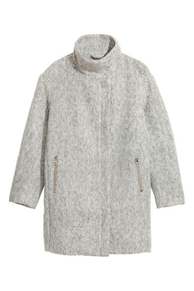 H&M+ Wool-blend coat - Light grey marl - Ladies | H&M IE