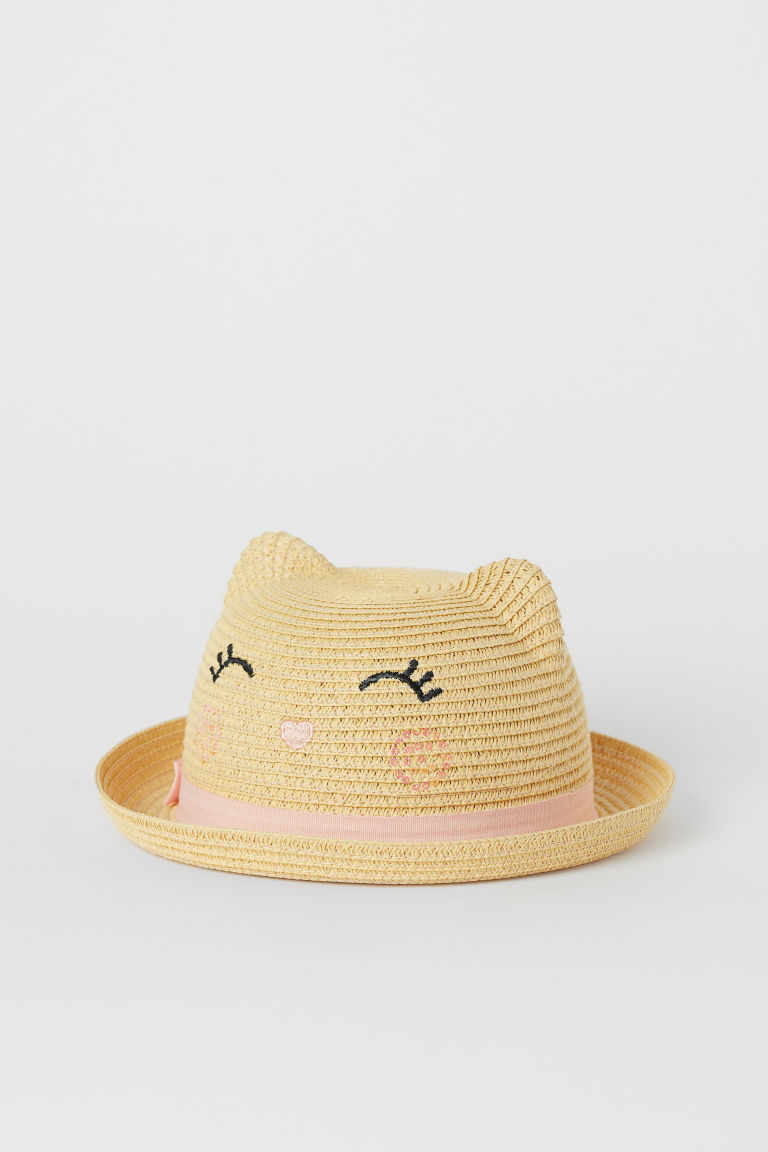 Straw Hat with Ears - Natural - Kids | H&M US