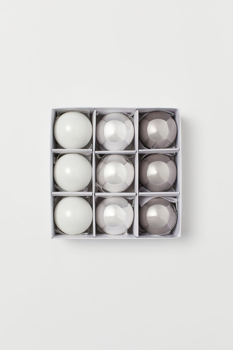 9-pack Christmas decorations - Silver-coloured - Home All | H&M CN