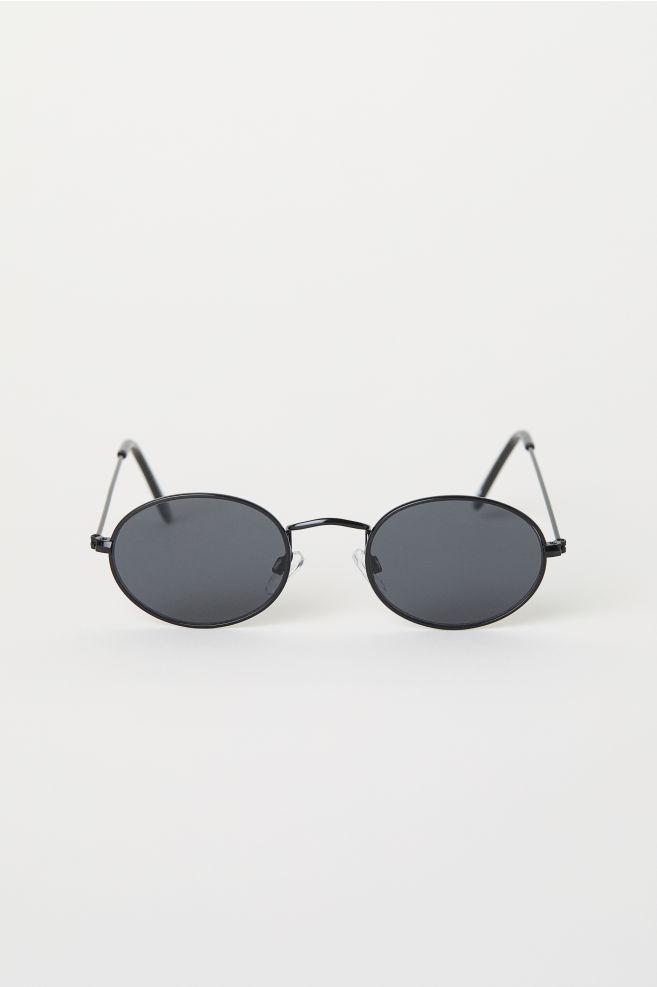 db249afa40f4a Oval Sunglasses - Black - Men