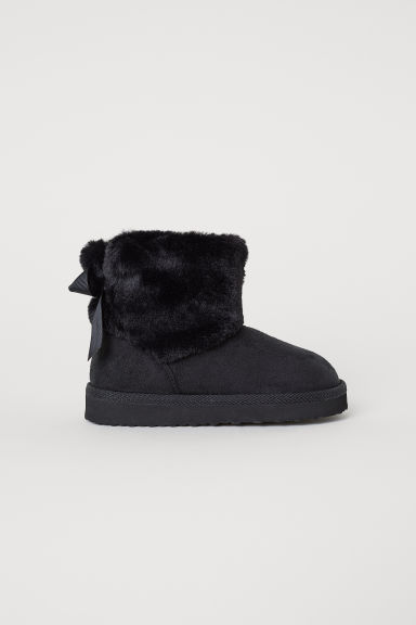 Warm-lined boots - Black - Kids | H&M