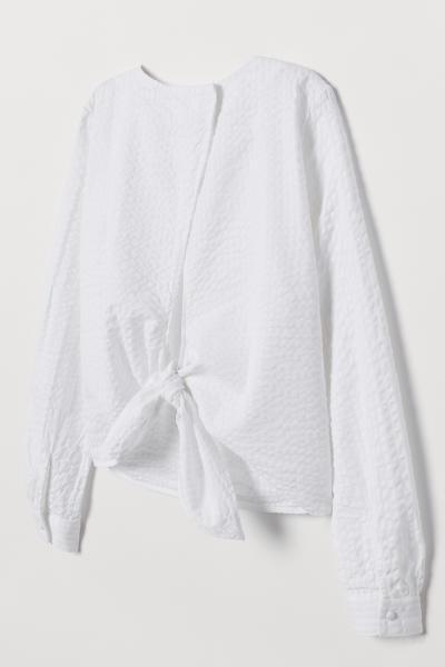 H&M - Blusa de sirsaca - 6