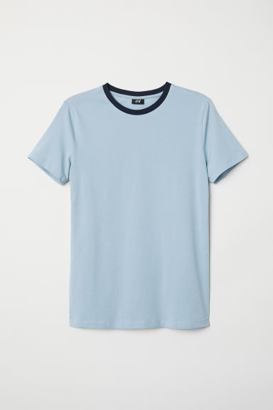 T-shirt Muscle Fit - Light blue - Men | H&M