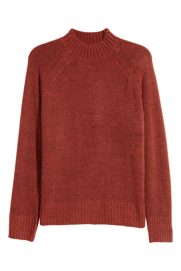 Pullover a lupetto - Arancione scuro - UOMO | H&M IT