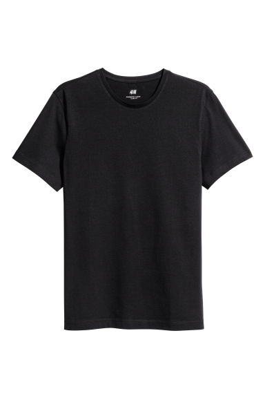 T-Shirt Slim Fit - Schwarz - Men | H&M AT
