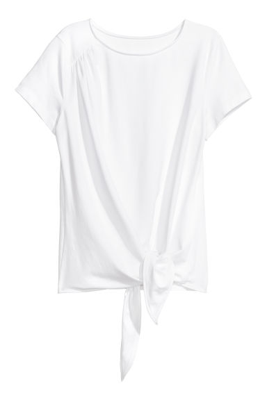 Top da annodare - Bianco -  | H&M IT
