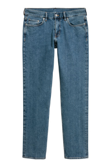 Slim Straight Selvedge Jeans - Bleu denim -  | H&M FR
