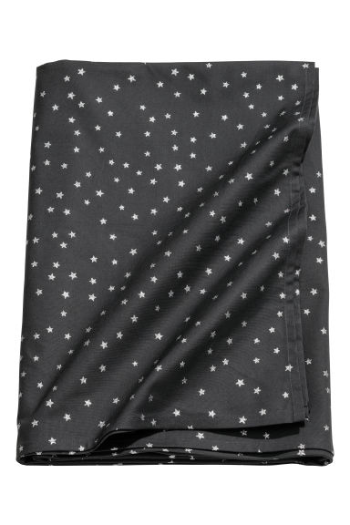 Star-pattern cotton tablecloth - Anthracite grey/Stars - Home All | H&M GB