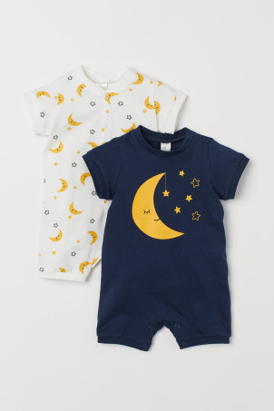 2-pack cotton pyjamas