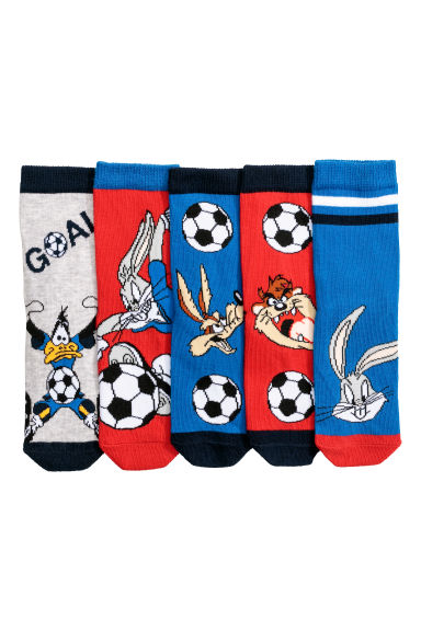 5-pack socks - Blue/Looney Tunes -  | H&M CN