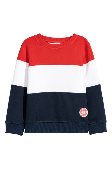 Sweater - Rood/blokkleuren -  | H&M BE