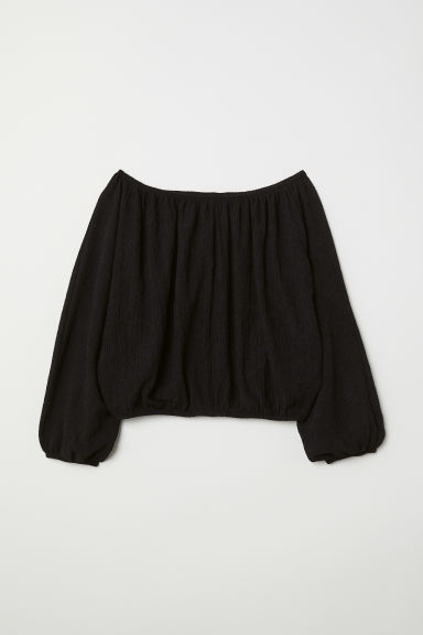 Off-the-shoulderbloes - Zwart - DAMES | H&M BE