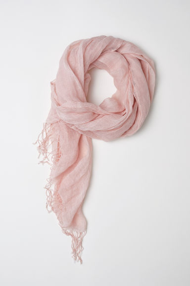 Linen scarf - Powder pink - Ladies | H&M