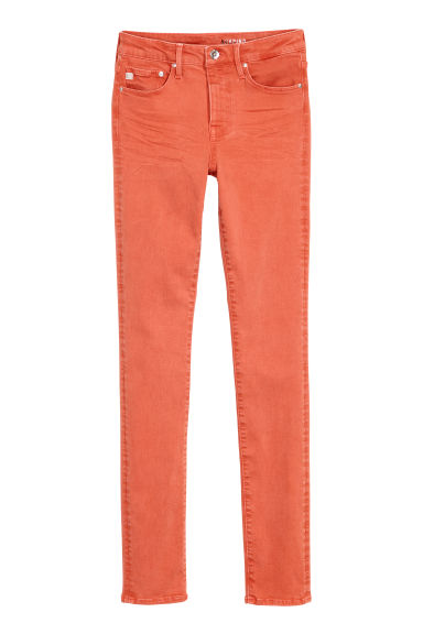 Shaping Skinny Regular Jeans - Coral - Ladies | H&M