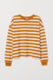Mustard yellow/white striped